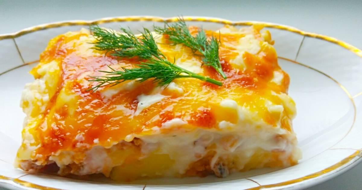 Картофельная запеканка с соусом «Бешамель»
